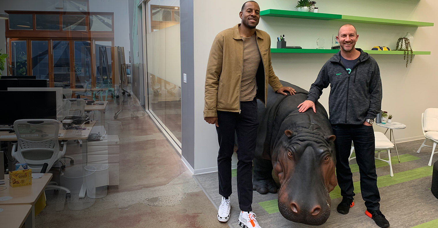 Andre Iguodala in our Palo Alto, California office.