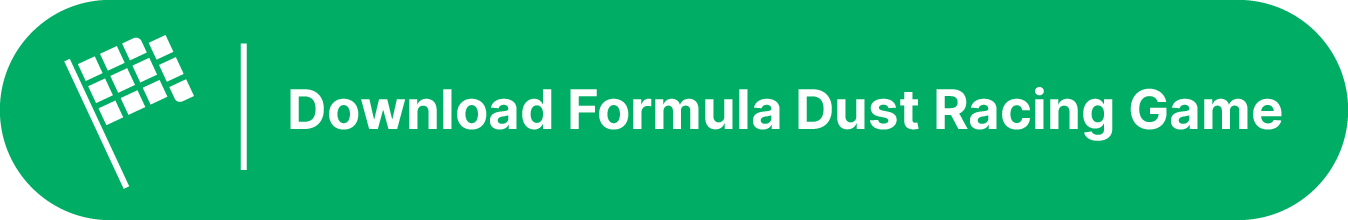A racing flag illustration on the left side of a green button